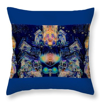 Magic In The Village Throw Pillow