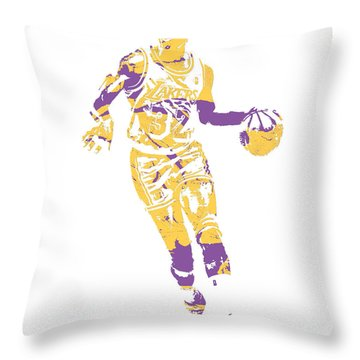 Magic Johnson Los Angeles Lakers Pixel Art 10 Throw Pillow