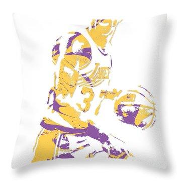 Magic Johnson Los Angeles Lakers Pixel Art 6 Throw Pillow