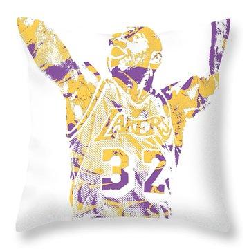 Magic Johnson Throw Pillows