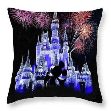 Magic Kingdom Castle Throw Pillow