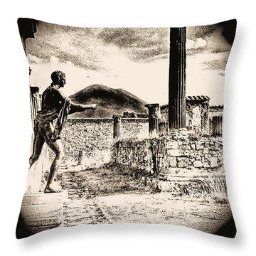 Throw Pillow featuring the photograph Magic Lantern Pompeii by Nigel Fletcher-Jones