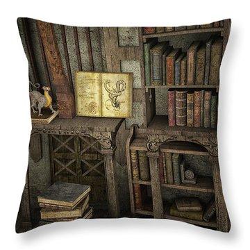 Magic Literature Throw Pillow