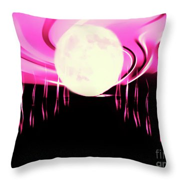 Magic Moon Throw Pillow