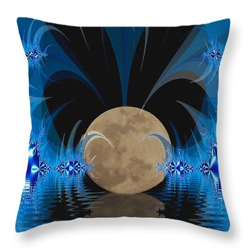 Magic Moon Throw Pillow by Geraldine DeBoer