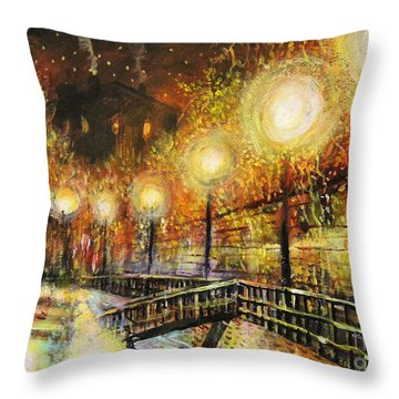 Magic Night Throw Pillow