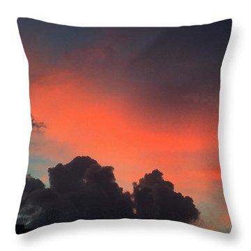 Late Day On Paros Island  Throw Pillow