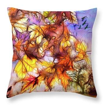 Magic Of Autumn Throw Pillow