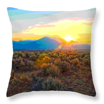 Magic Over Taos Throw Pillow