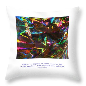 Throw Pillow featuring the photograph Magic Reveals Itself by Kristen Fox