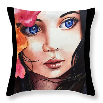 Throw Pillow featuring the painting Magic Secrets by Michal Madison
