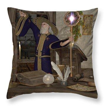 Magic Sorcerer Throw Pillow
