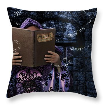 Magic Spells Book Throw Pillow