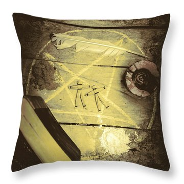 Magic Spells Throw Pillow