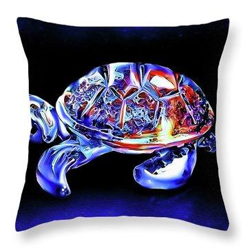 Magic Turtle Throw Pillow