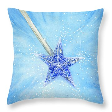 Throw Pillow featuring the painting Magic Wand by Cindy Garber Iverson