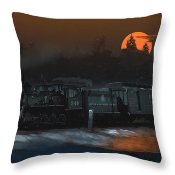 The Last Mile Before Home Throw Pillow