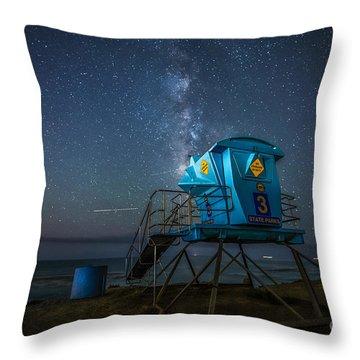 Magical Beach  Throw Pillow