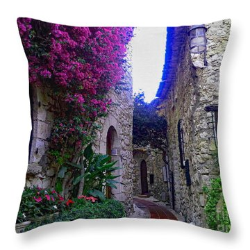 Magical Beauty In Eze France Throw Pillow