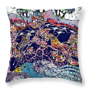 Magical Birds Throw Pillow