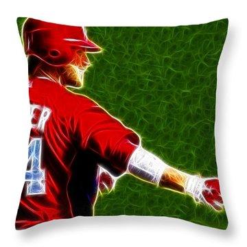 Magical Bryce Harper Throw Pillow by Paul Van Scott