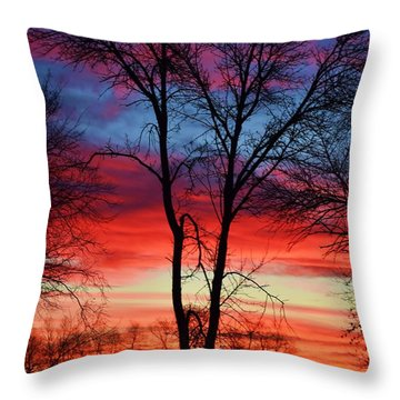 Magical Colors In The Sky Throw Pillow