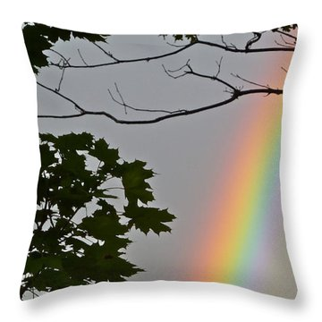 Throw Pillow featuring the photograph Magical Colours by Claire Bull