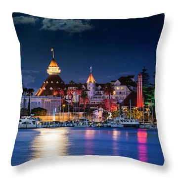 Throw Pillow featuring the photograph Magical Del by Dan McGeorge