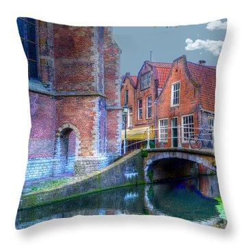 Magical Delft Throw Pillow