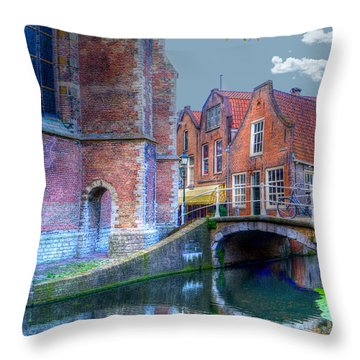 Magical Delft Throw Pillow