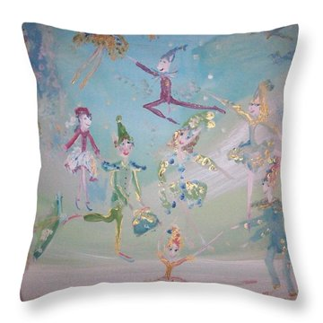 Magical Elf Dance Throw Pillow