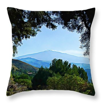 Throw Pillow featuring the photograph Magical Etna by Lucia Sirna