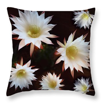 Throw Pillow featuring the photograph Magical Flower by Gina Dsgn
