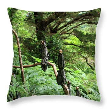Throw Pillow featuring the photograph Magical Forest by Aidan Moran