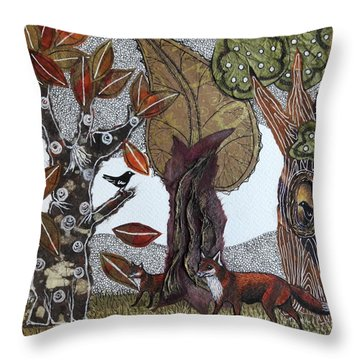 Magical Forest Throw Pillow