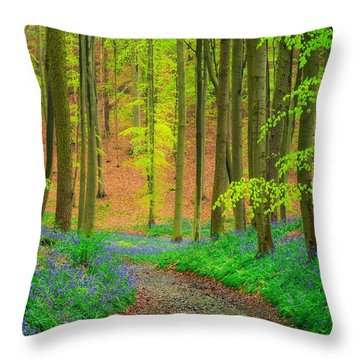 Magical Forest Throw Pillow by Maciej Markiewicz