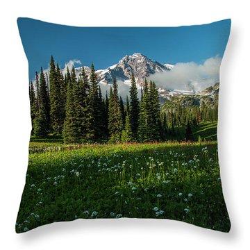 Magical Garden Throw Pillow
