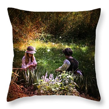 Magical Garden Throw Pillow