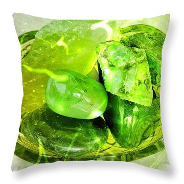 Magical Gemstones Throw Pillow