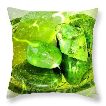 Magical Gemstones Throw Pillow