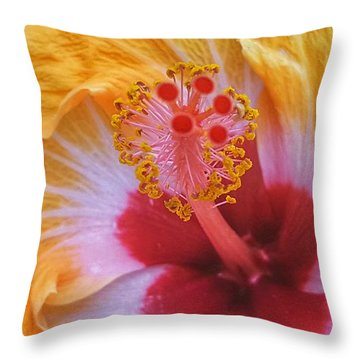 Magical Hibiscus  Throw Pillow
