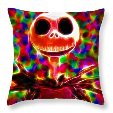 Magical Jack Skellington Throw Pillow by Paul Van Scott