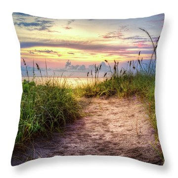 Throw Pillow featuring the photograph Magical Light In The Dunes by Debra and Dave Vanderlaan