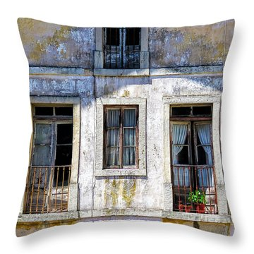 Magical Light On Sintra Windows Throw Pillow