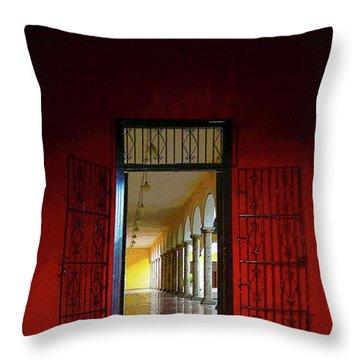 Magical Merida Door Throw Pillow