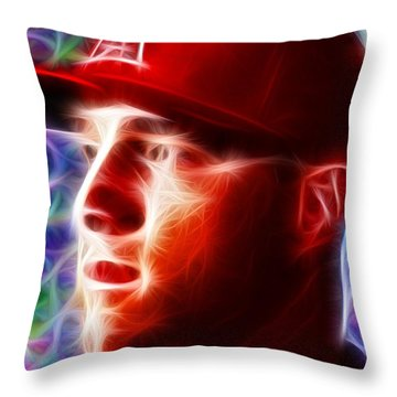 Magical Mike Trout Throw Pillow by Paul Van Scott