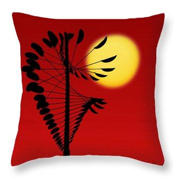 Magical Mobile And Sun Throw Pillow