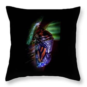 Magical Monarch Throw Pillow by Karen Wiles