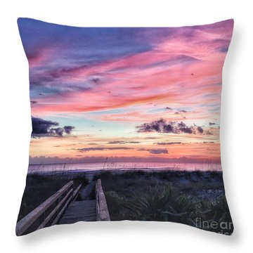 Throw Pillow featuring the photograph Magical Morning by LeeAnn Kendall