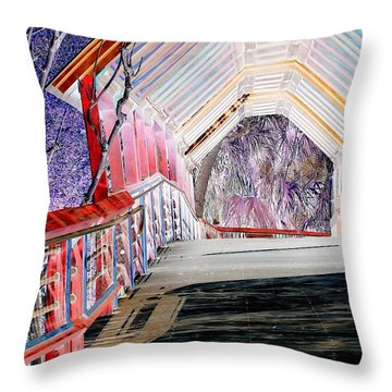 Magical Mystery Bridge Throw Pillow